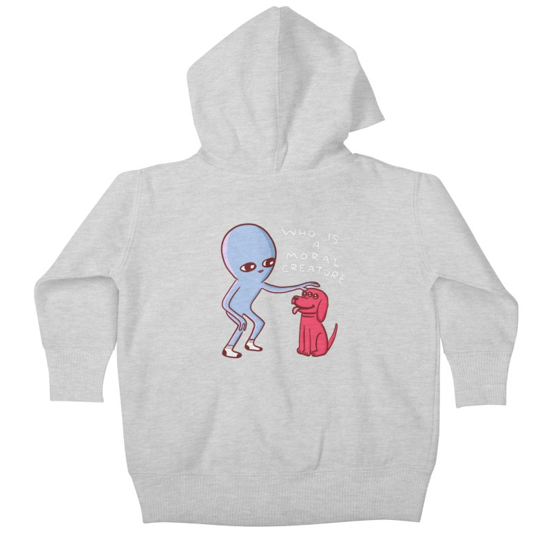 STRANGE PLANET SPECIAL PRODUCT: MORAL CREATURE Kids Baby Zip-Up Hoody by Nathan W Pyle