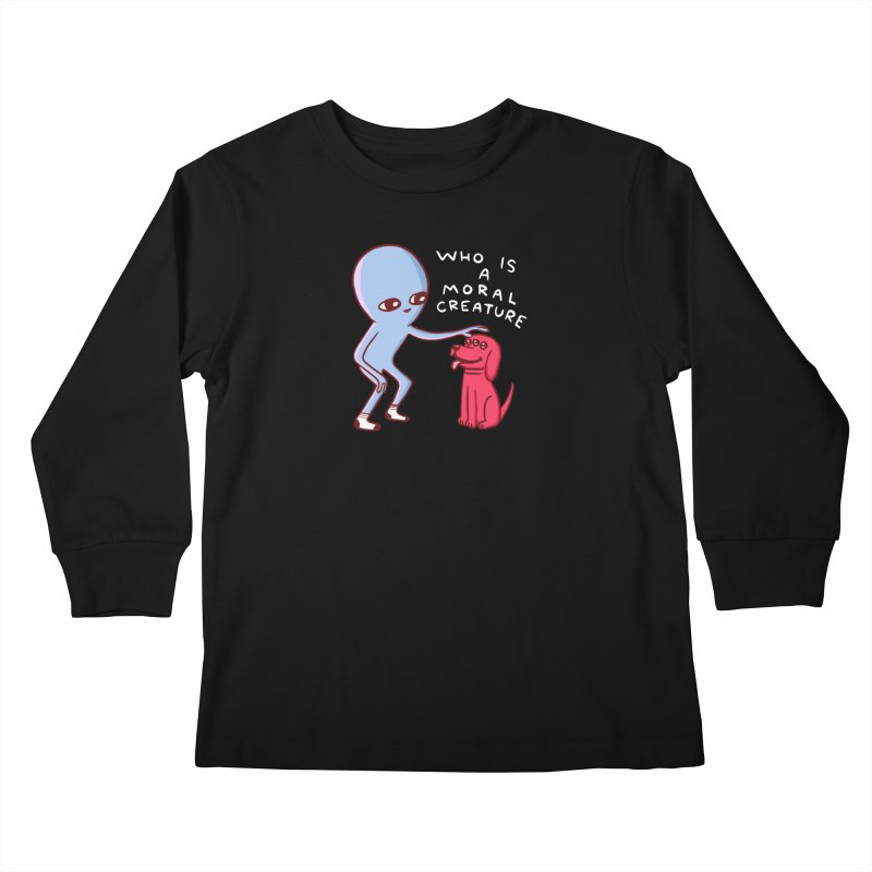 STRANGE PLANET SPECIAL PRODUCT: MORAL CREATURE Kids Longsleeve T-Shirt by Nathan W Pyle