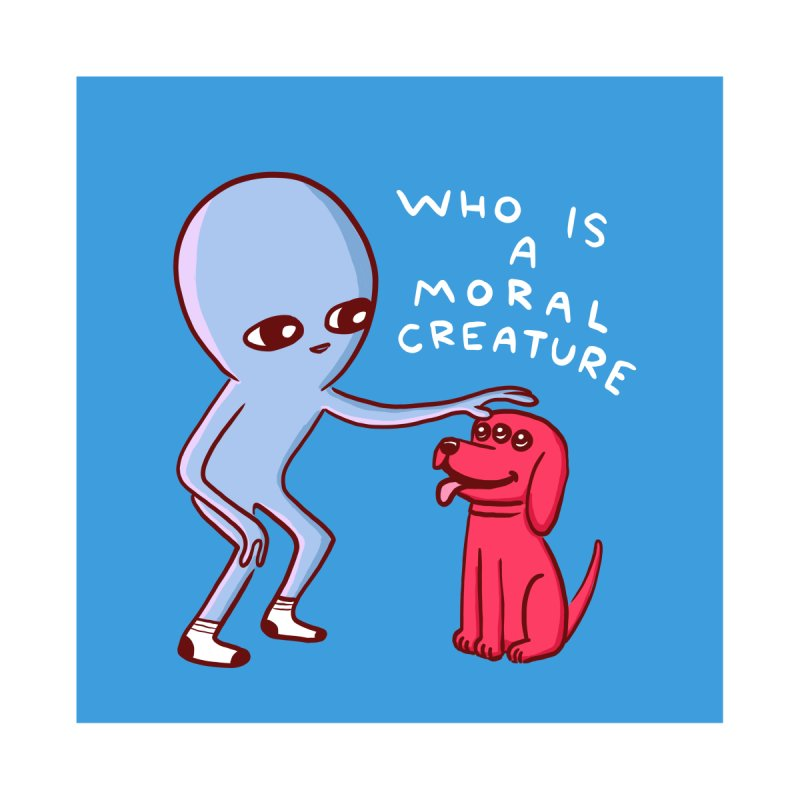 STRANGE PLANET STICKER AND MAGNET: MORAL CREATURE by Nathan W Pyle