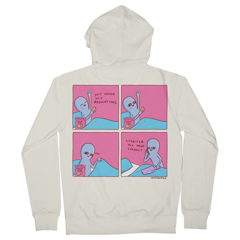 STRANGE PLANET: LIFEGIVER YOU WERE CORRECT Women's French Terry Zip-Up Hoody by Nathan W Pyle