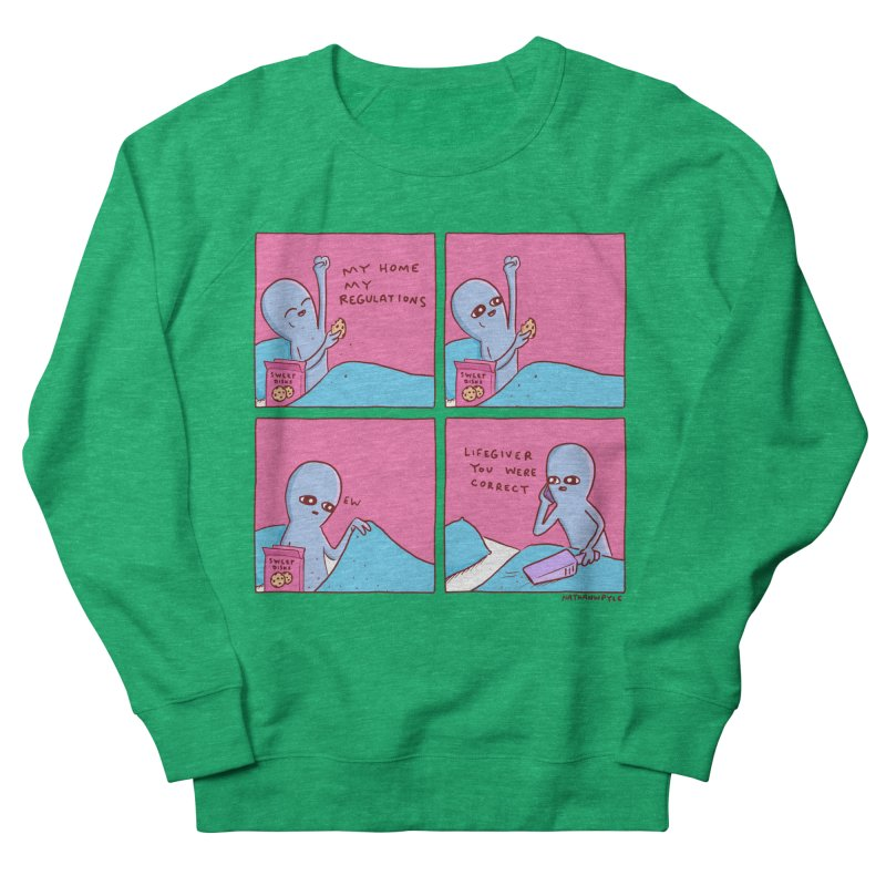 STRANGE PLANET: LIFEGIVER YOU WERE CORRECT Men's French Terry Sweatshirt by Nathan W Pyle