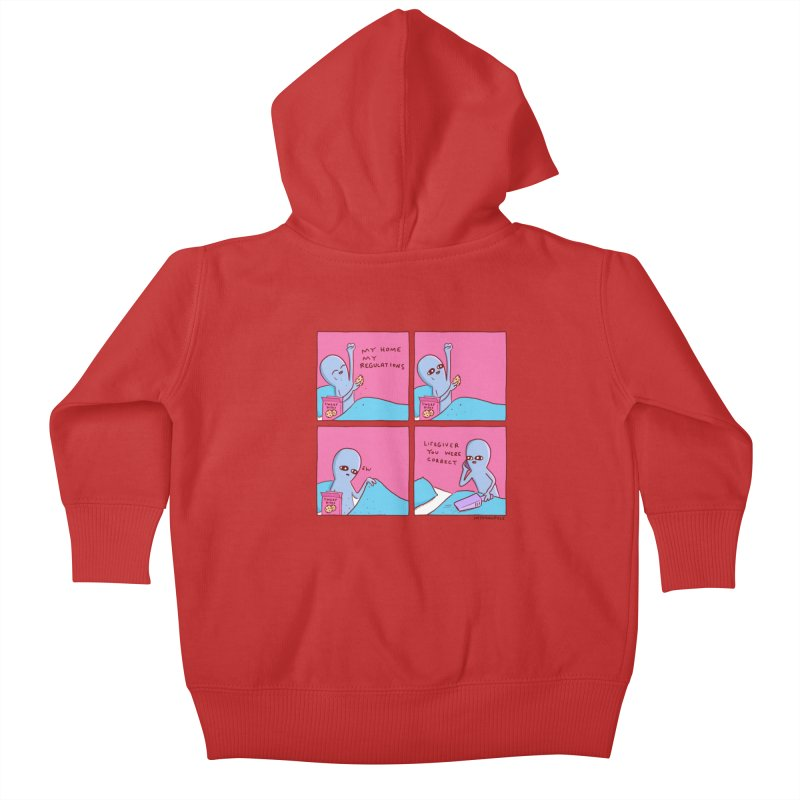 STRANGE PLANET: LIFEGIVER YOU WERE CORRECT Kids Baby Zip-Up Hoody by Nathan W Pyle