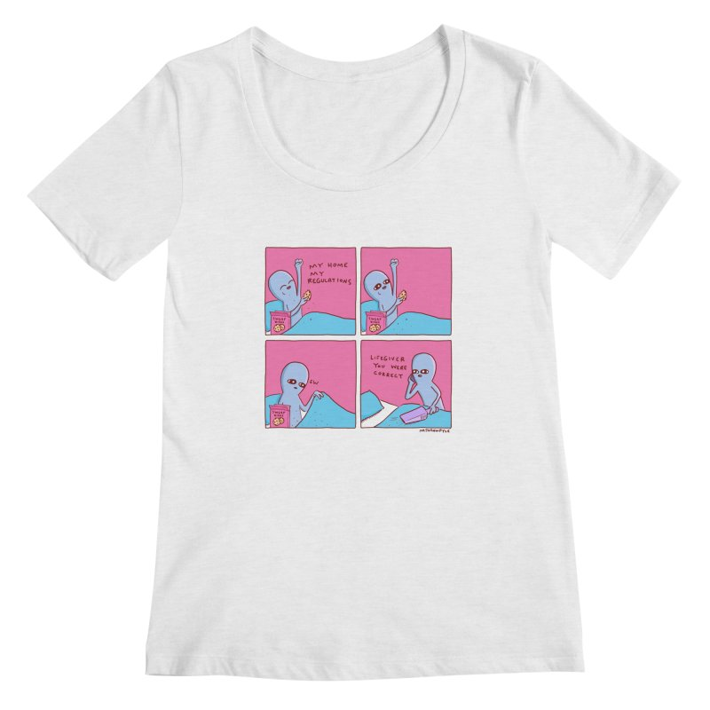 STRANGE PLANET: LIFEGIVER YOU WERE CORRECT Women's Regular Scoop Neck by Nathan W Pyle