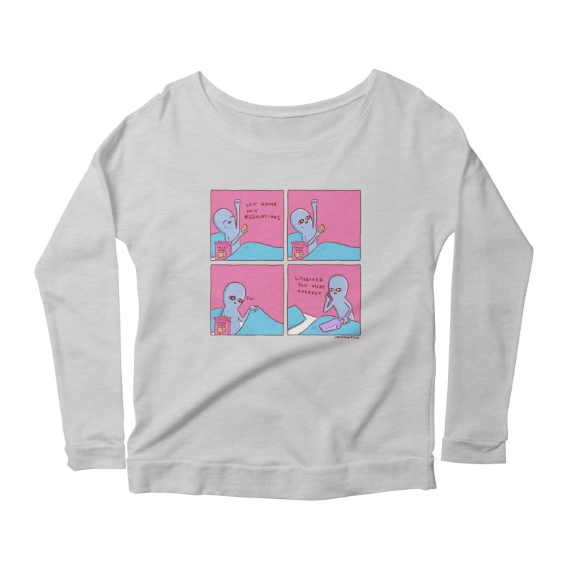 STRANGE PLANET: LIFEGIVER YOU WERE CORRECT Women's Scoop Neck Longsleeve T-Shirt by Nathan W Pyle
