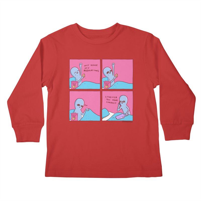 STRANGE PLANET: LIFEGIVER YOU WERE CORRECT Kids Longsleeve T-Shirt by Nathan W Pyle