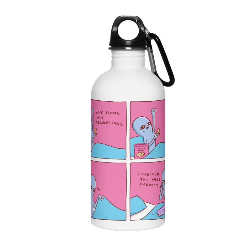 STRANGE PLANET: LIFEGIVER YOU WERE CORRECT Accessories Water Bottle by Nathan W Pyle