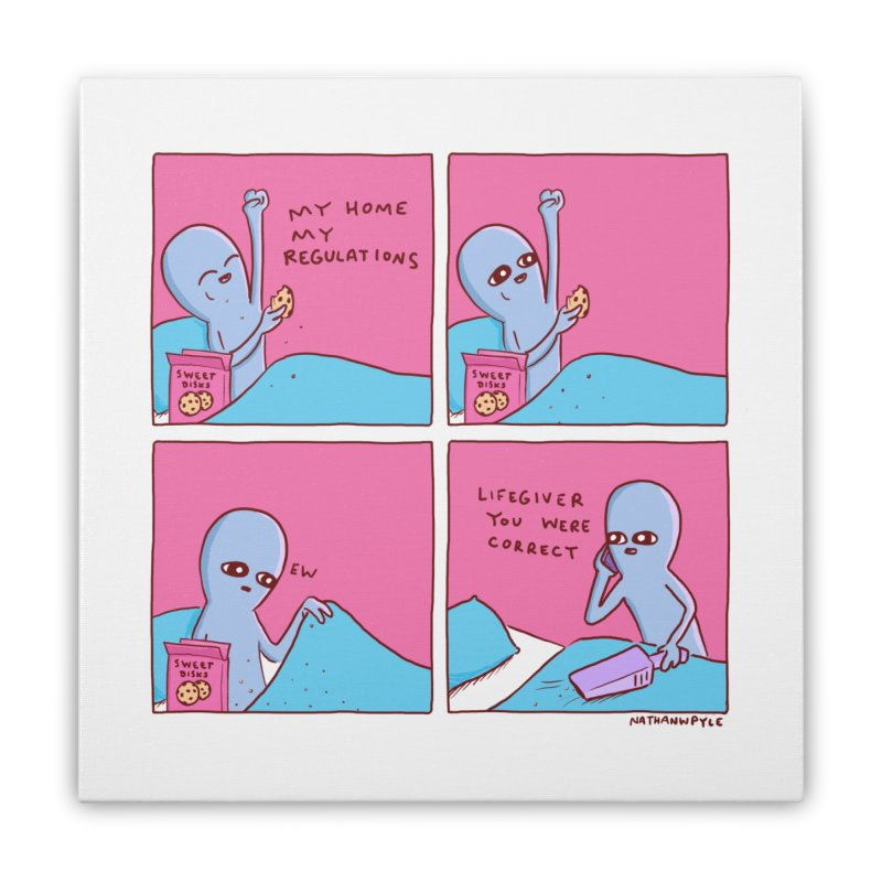 STRANGE PLANET: LIFEGIVER YOU WERE CORRECT Home Stretched Canvas by Nathan W Pyle