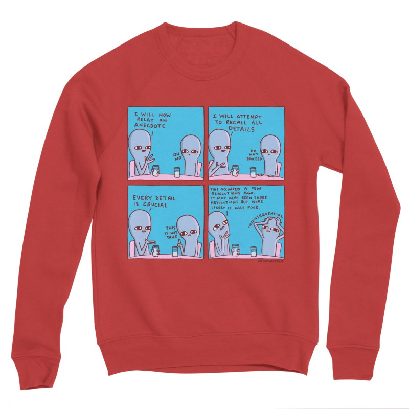 STRANGE PLANET: INCONSEQUENTIAL Women's Sponge Fleece Sweatshirt by Nathan W Pyle
