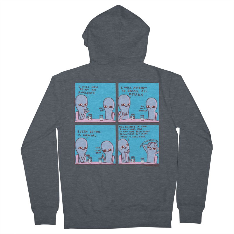 STRANGE PLANET: INCONSEQUENTIAL Women's French Terry Zip-Up Hoody by Nathan W Pyle