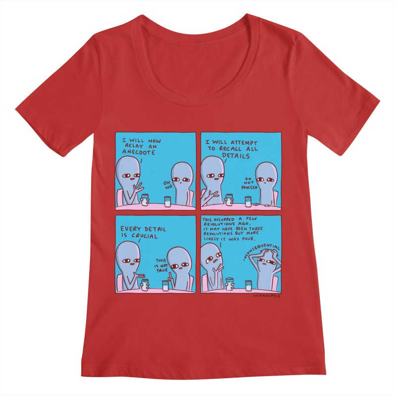 STRANGE PLANET: INCONSEQUENTIAL Women's Regular Scoop Neck by Nathan W Pyle