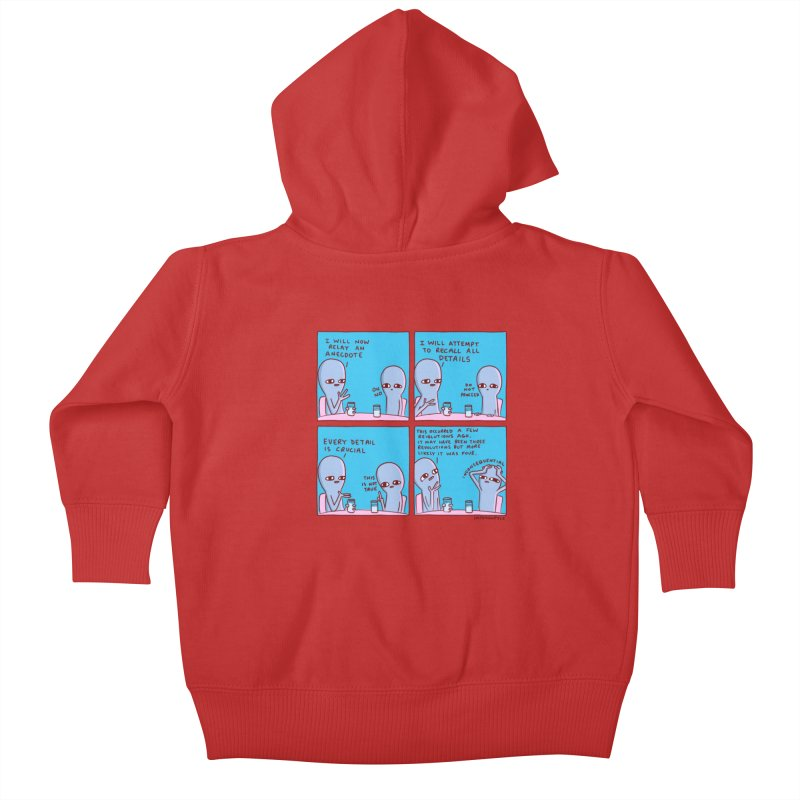 STRANGE PLANET: INCONSEQUENTIAL Kids Baby Zip-Up Hoody by Nathan W Pyle