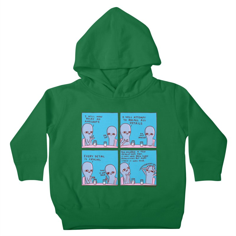 STRANGE PLANET: INCONSEQUENTIAL Kids Toddler Pullover Hoody by Nathan W Pyle