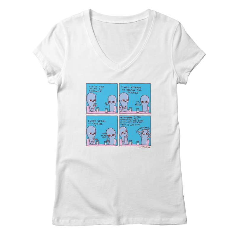 STRANGE PLANET: INCONSEQUENTIAL Women's Regular V-Neck by Nathan W Pyle