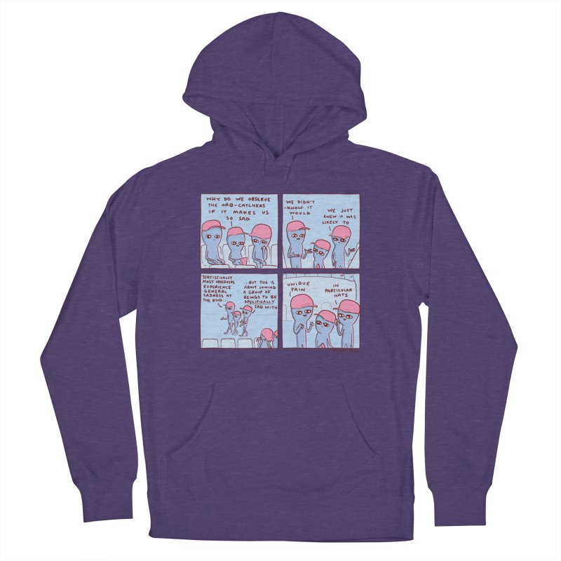STRANGE PLANET: UNIQUE PAIN IN PARTICULAR HATS Women's French Terry Pullover Hoody by Nathan W Pyle