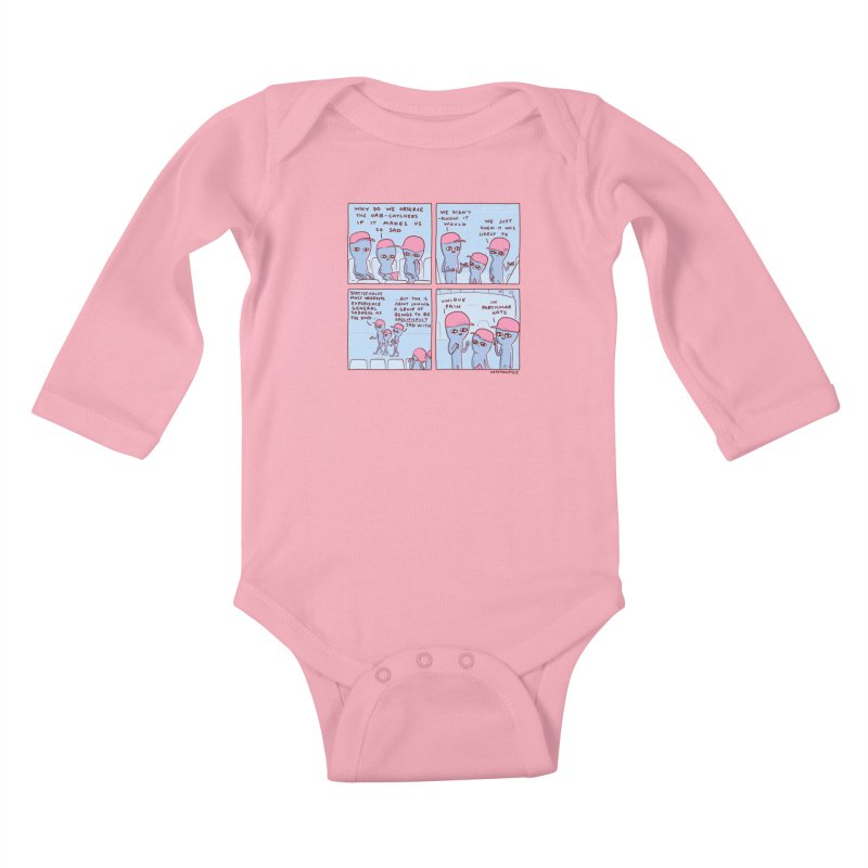 STRANGE PLANET: UNIQUE PAIN IN PARTICULAR HATS Kids Baby Longsleeve Bodysuit by Nathan W Pyle