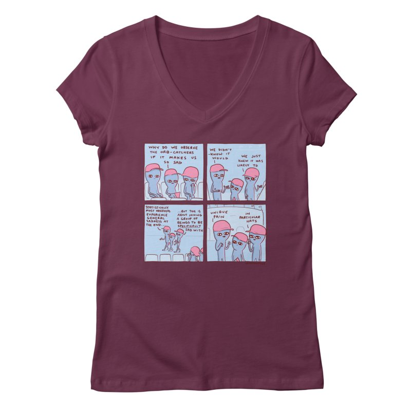STRANGE PLANET: UNIQUE PAIN IN PARTICULAR HATS Women's Regular V-Neck by Nathan W Pyle