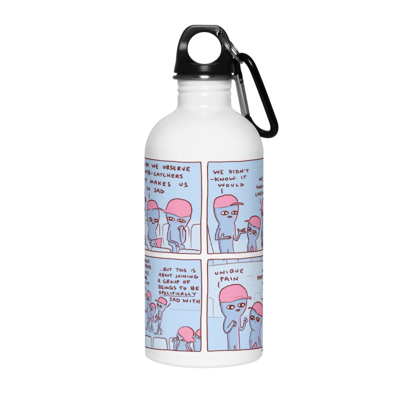 STRANGE PLANET: UNIQUE PAIN IN PARTICULAR HATS Accessories Water Bottle by Nathan W Pyle