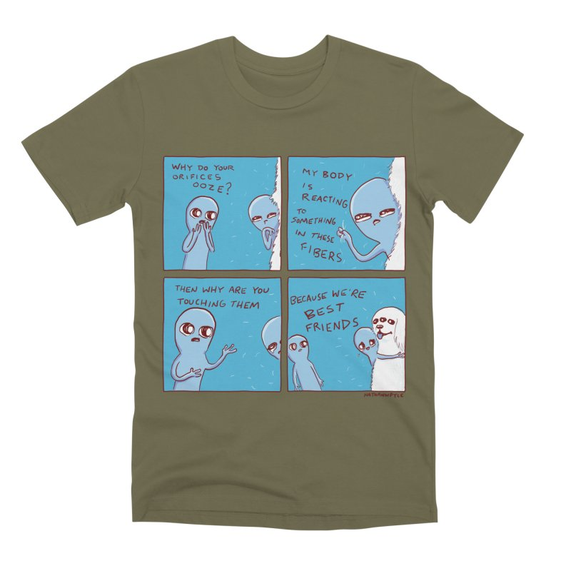 STRANGE PLANET: BEST FRIENDS Men's Premium T-Shirt by Nathan W Pyle