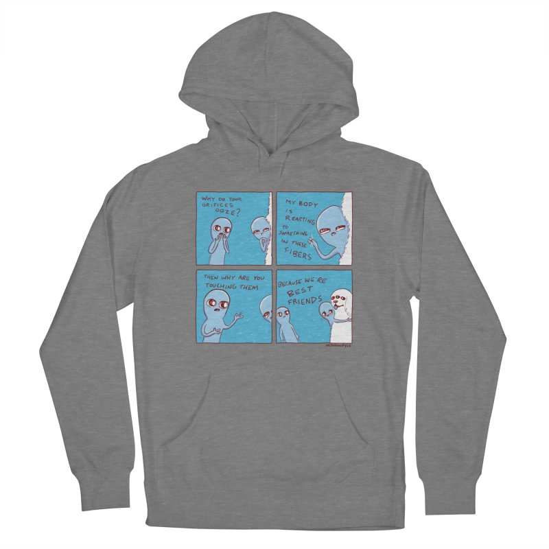 STRANGE PLANET: BEST FRIENDS Women's French Terry Pullover Hoody by Nathan W Pyle