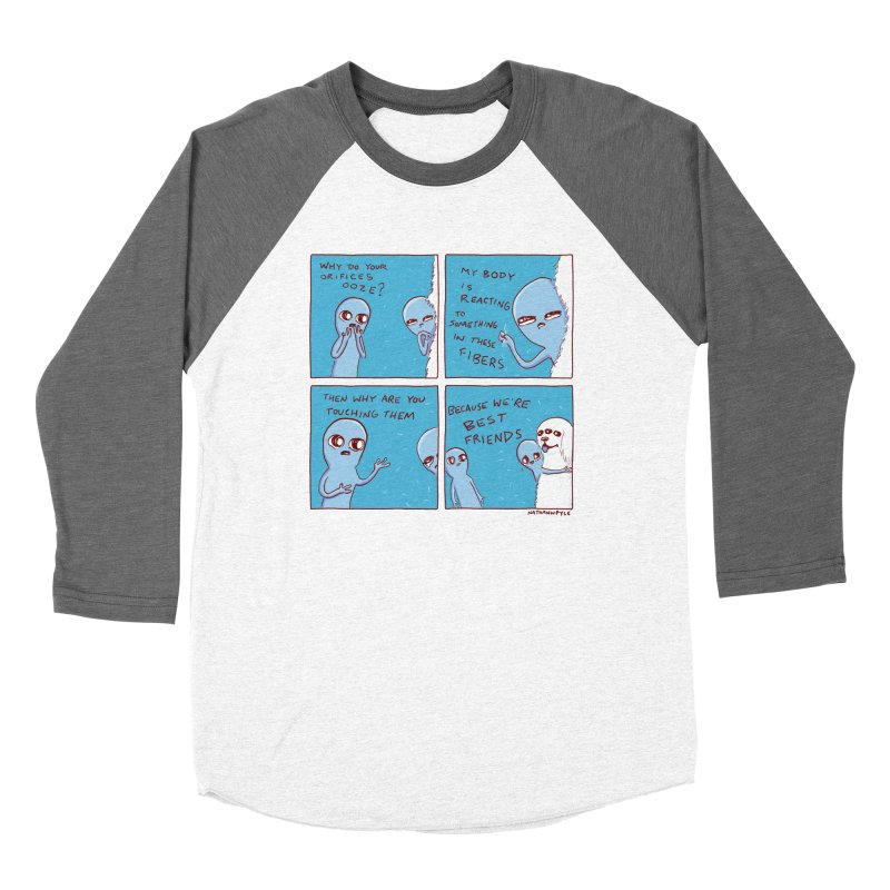 STRANGE PLANET: BEST FRIENDS Men's Baseball Triblend Longsleeve T-Shirt by Nathan W Pyle