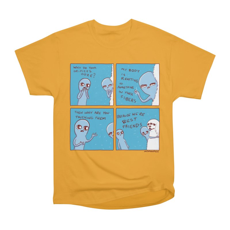 STRANGE PLANET: BEST FRIENDS Men's Heavyweight T-Shirt by Nathan W Pyle