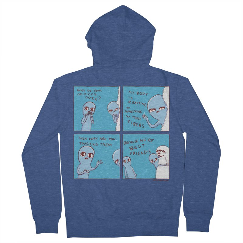 STRANGE PLANET: BEST FRIENDS Women's French Terry Zip-Up Hoody by Nathan W Pyle