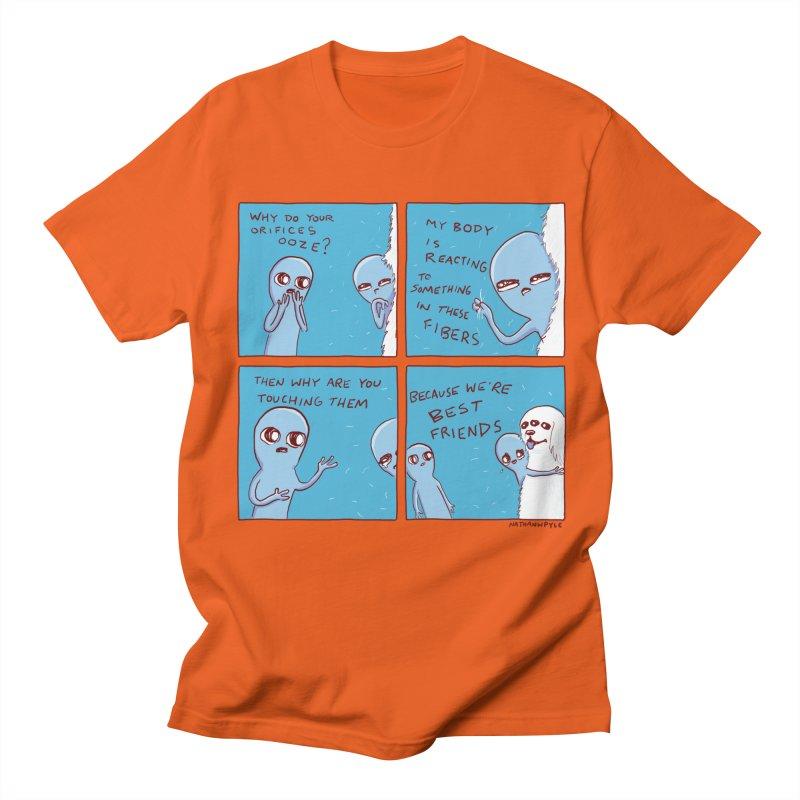 STRANGE PLANET: BEST FRIENDS Men's Regular T-Shirt by Nathan W Pyle