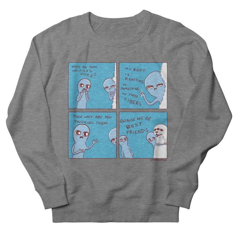STRANGE PLANET: BEST FRIENDS Women's French Terry Sweatshirt by Nathan W Pyle