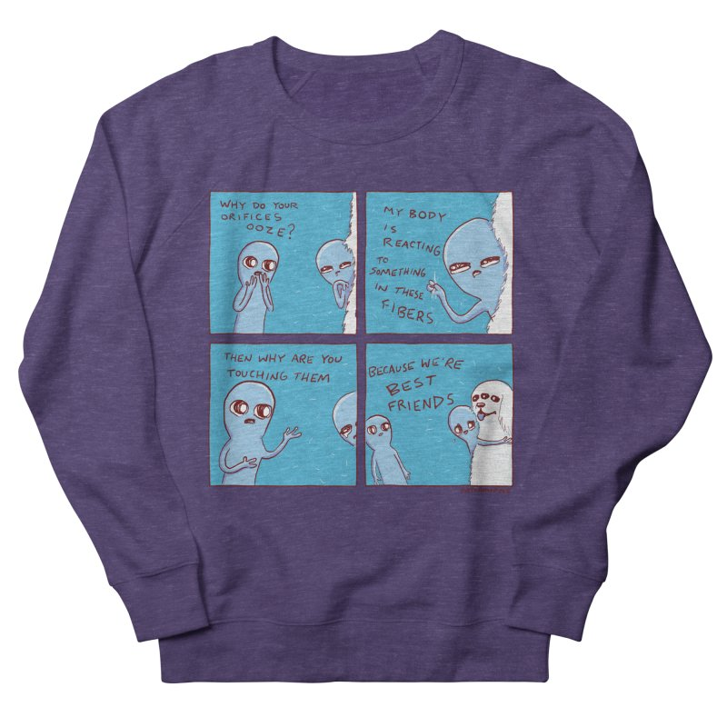 STRANGE PLANET: BEST FRIENDS Men's French Terry Sweatshirt by Nathan W Pyle