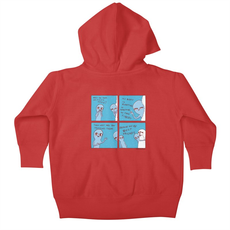 STRANGE PLANET: BEST FRIENDS Kids Baby Zip-Up Hoody by Nathan W Pyle