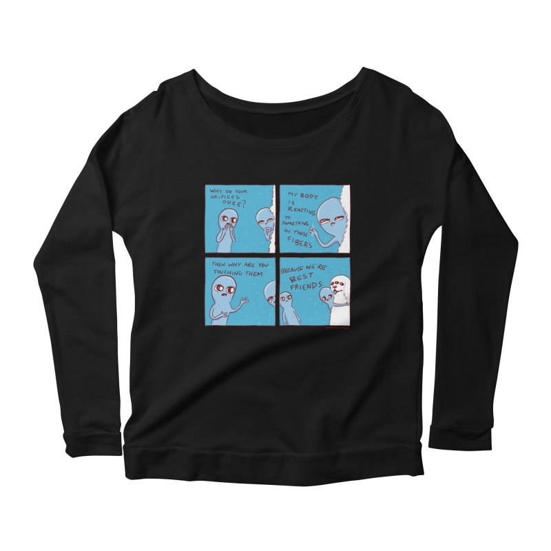 STRANGE PLANET: BEST FRIENDS Women's Scoop Neck Longsleeve T-Shirt by Nathan W Pyle