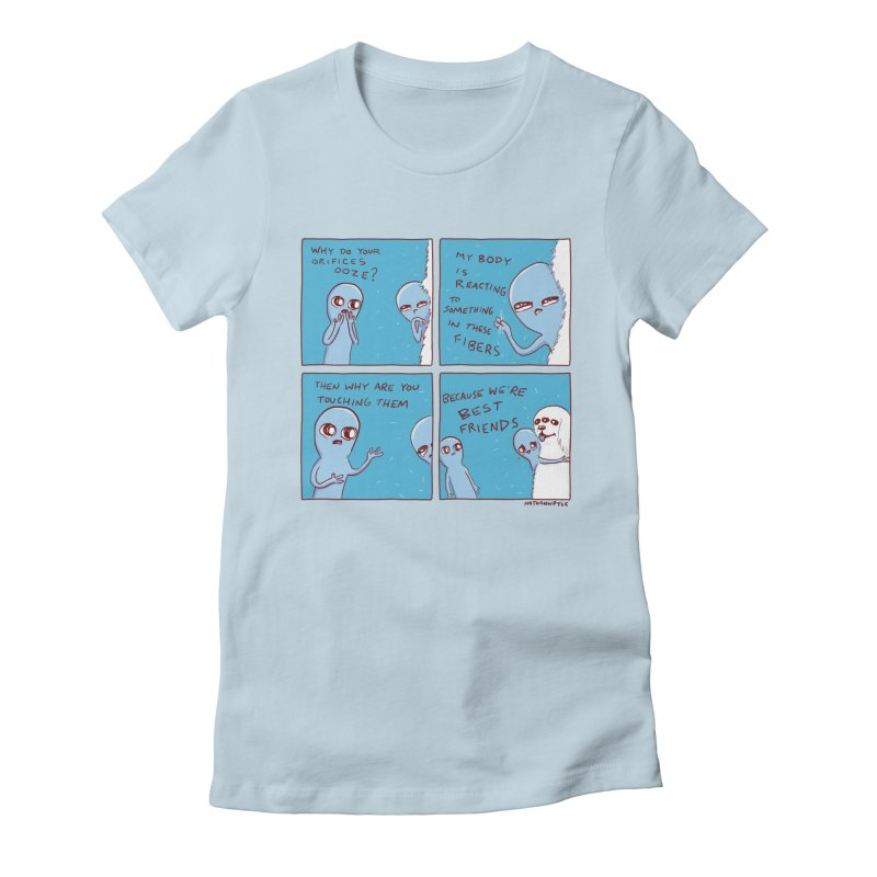 STRANGE PLANET: BEST FRIENDS Women's Fitted T-Shirt by Nathan W Pyle