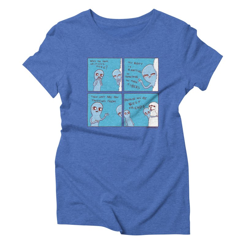 STRANGE PLANET: BEST FRIENDS Women's Triblend T-Shirt by Nathan W Pyle