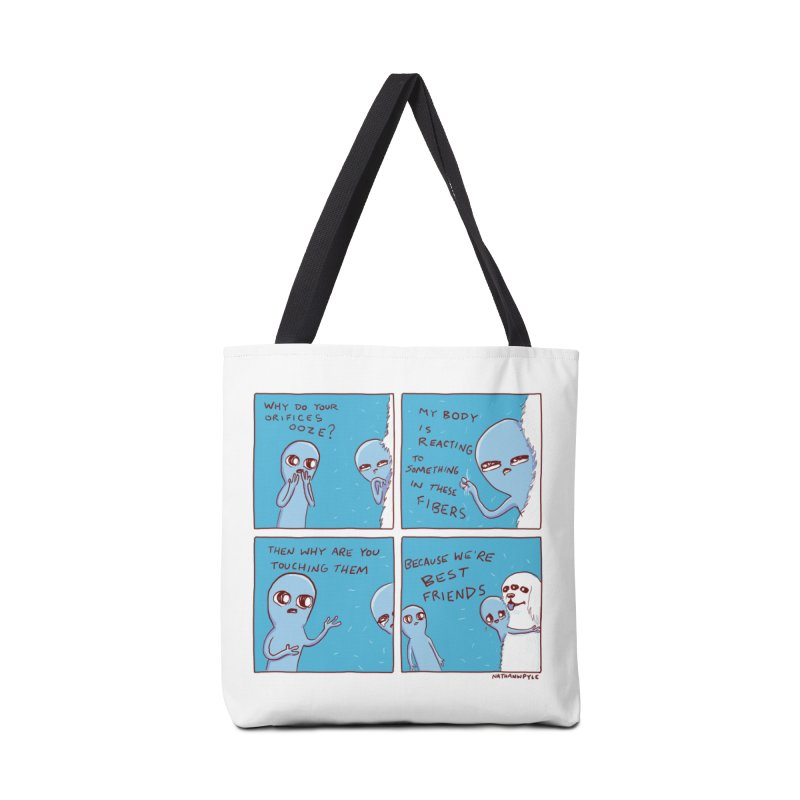STRANGE PLANET: BEST FRIENDS Accessories Tote Bag Bag by Nathan W Pyle