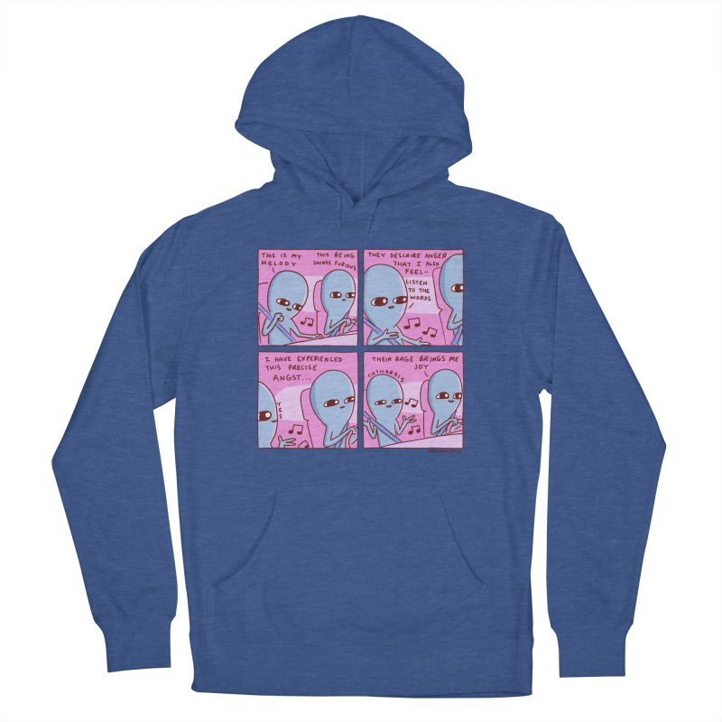 STRANGE PLANET: THEIR RAGE BRINGS ME JOY Men's French Terry Pullover Hoody by Nathan W Pyle