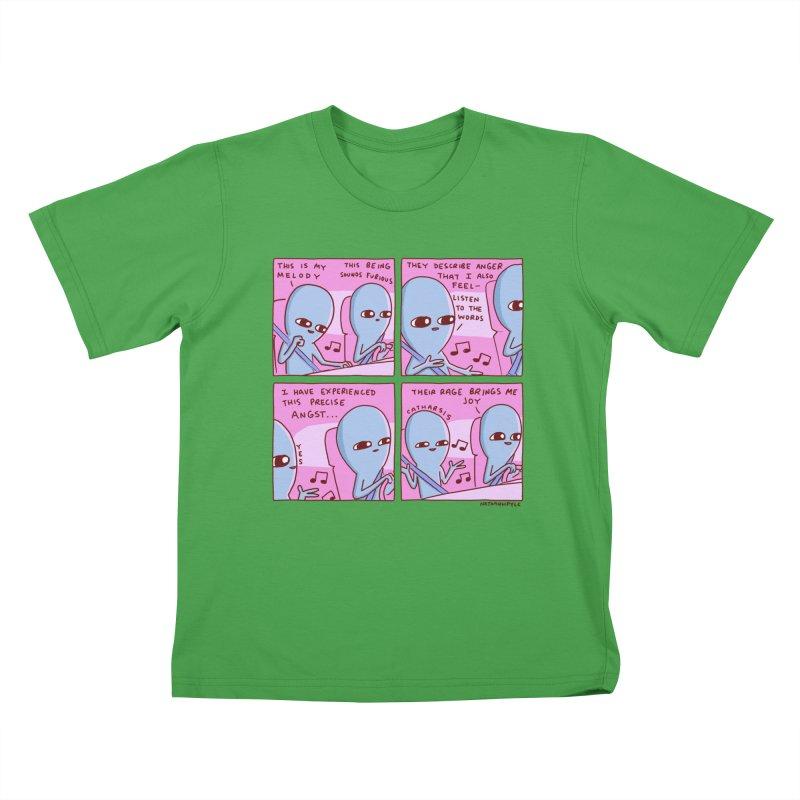 STRANGE PLANET: THEIR RAGE BRINGS ME JOY Kids T-Shirt by Nathan W Pyle