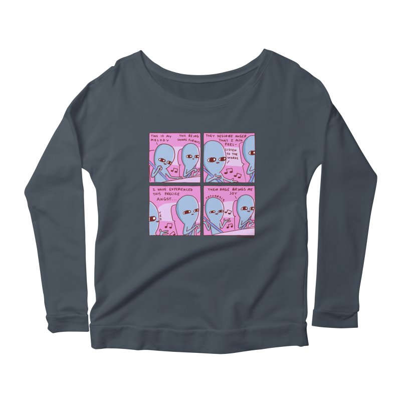 STRANGE PLANET: THEIR RAGE BRINGS ME JOY Women's Scoop Neck Longsleeve T-Shirt by Nathan W Pyle