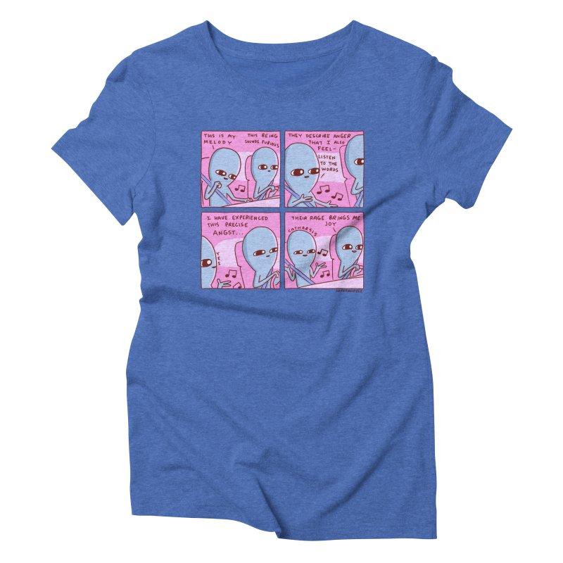 STRANGE PLANET: THEIR RAGE BRINGS ME JOY Women's Triblend T-Shirt by Nathan W Pyle