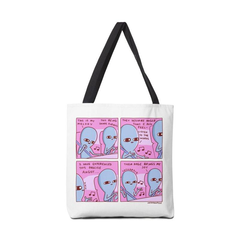 STRANGE PLANET: THEIR RAGE BRINGS ME JOY Accessories Tote Bag Bag by Nathan W Pyle