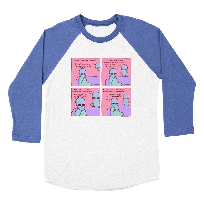 STRANGE PLANET: MOVEMENT IS UNNECESSARY Men's Baseball Triblend Longsleeve T-Shirt by Nathan W Pyle