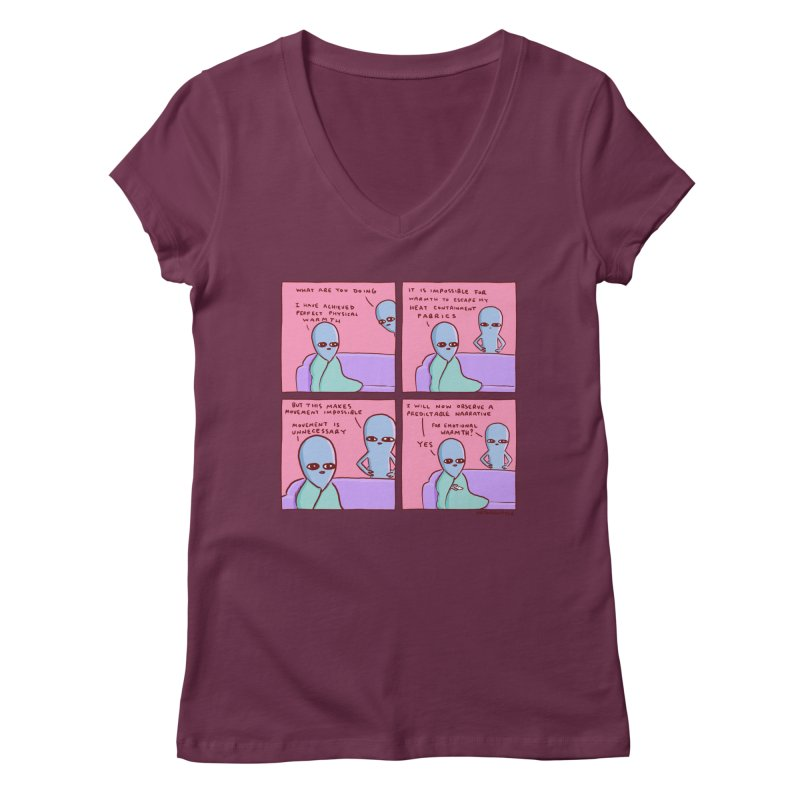 STRANGE PLANET: MOVEMENT IS UNNECESSARY Women's Regular V-Neck by Nathan W Pyle