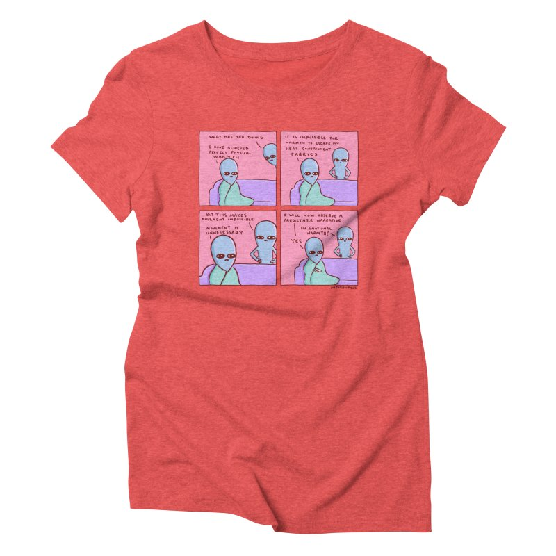 STRANGE PLANET: MOVEMENT IS UNNECESSARY Women's Triblend T-Shirt by Nathan W Pyle