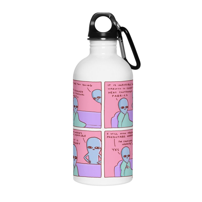 STRANGE PLANET: MOVEMENT IS UNNECESSARY Accessories Water Bottle by Nathan W Pyle