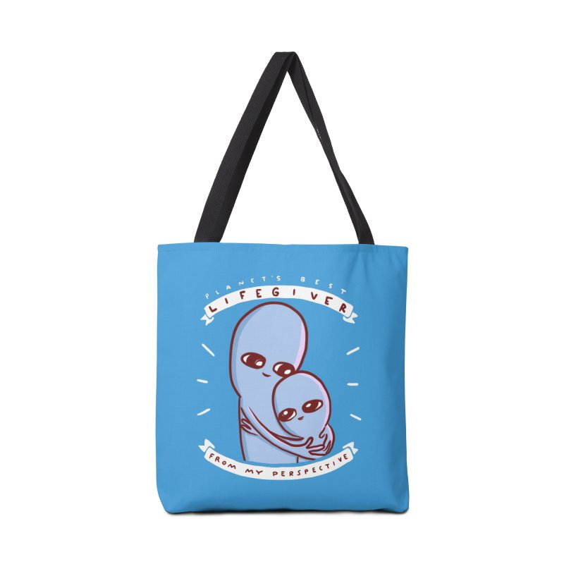 STRANGE PLANET SPECIAL PRODUCT: PLANET'S BEST LIFEGIVER FROM MY PERSEPCTIVE Accessories Tote Bag Bag by Nathan W Pyle