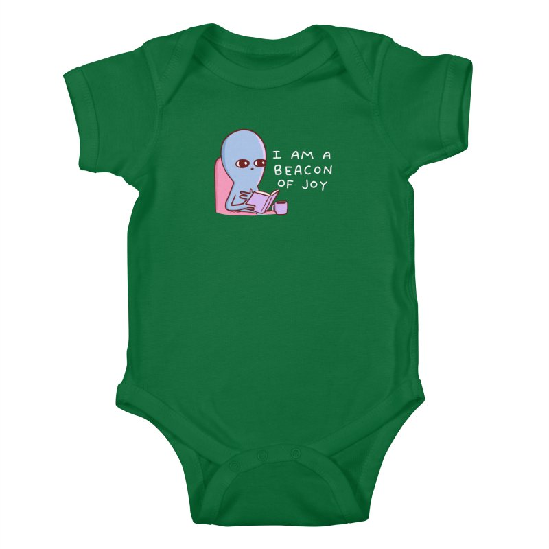 STRANGE PLANET SPECIAL PRODUCT: I AM A BEACON OF JOY Kids Baby Bodysuit by Nathan W Pyle