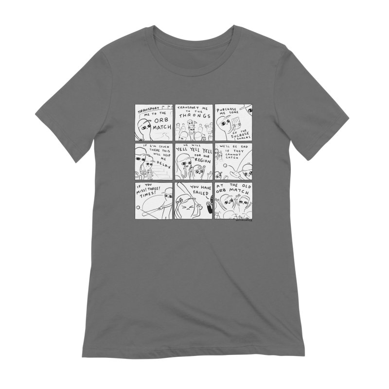 STRANGE PLANET: BLACK AND WHITE - TRANSPORT ME TO THE ORB MATCH Women's T-Shirt by Nathan W Pyle