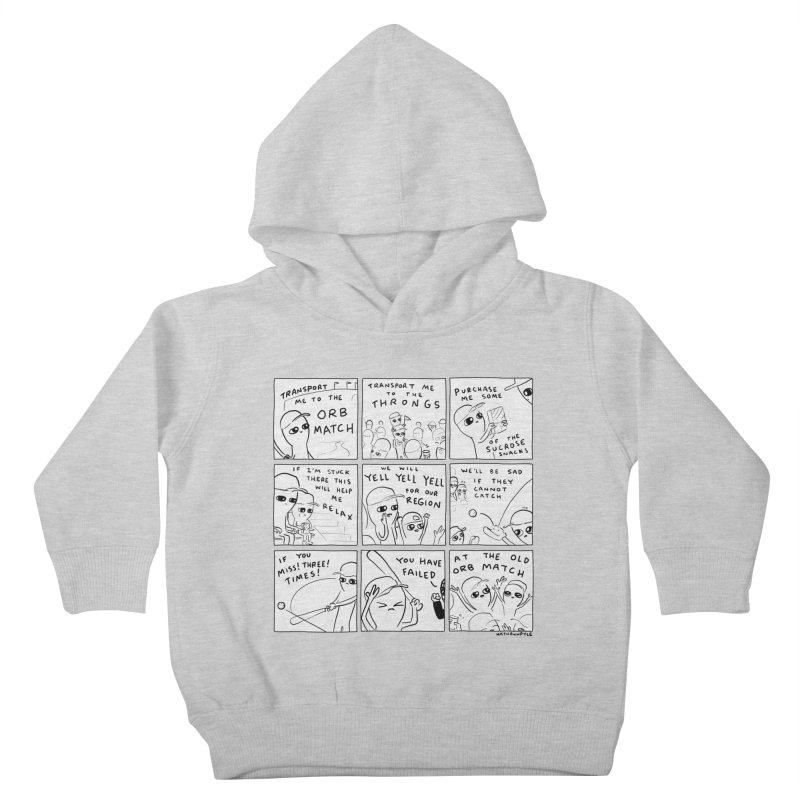 STRANGE PLANET: BLACK AND WHITE - TRANSPORT ME TO THE ORB MATCH Kids Toddler Pullover Hoody by Nathan W Pyle