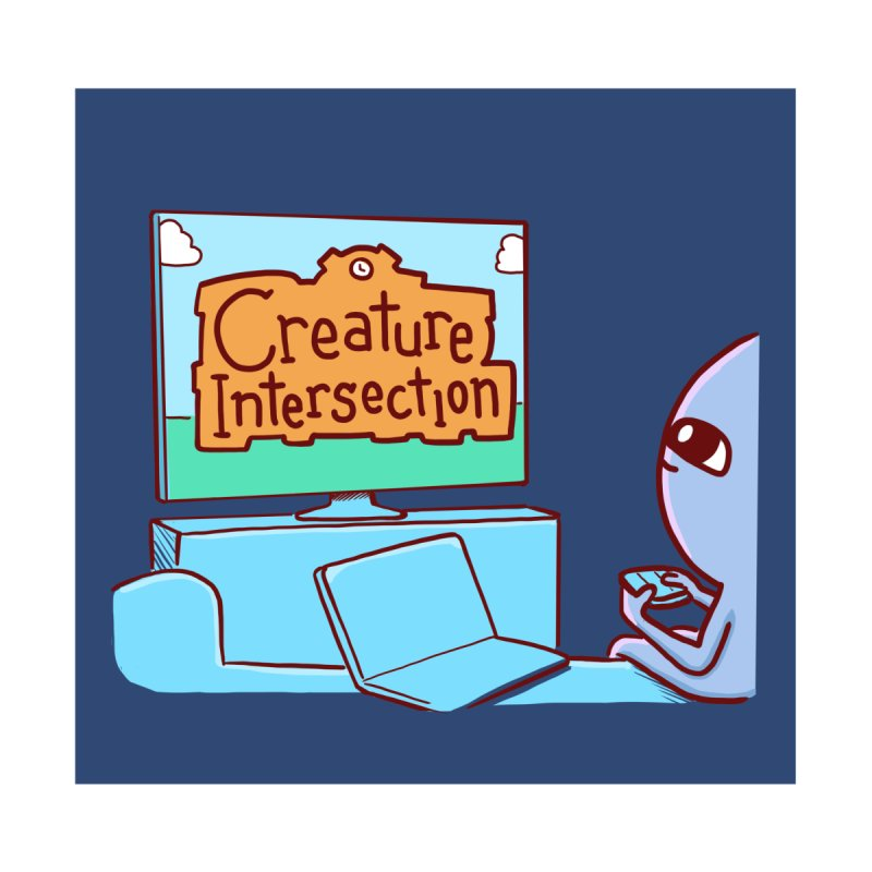 STRANGE PLANET STICKER AND MAGNET: CREATURE INTERSECTION Accessories Magnet by Nathan W Pyle