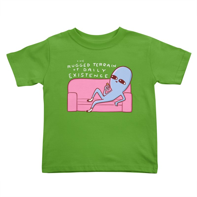 STRANGE PLANET SPECIAL PRODUCT: RUGGED TERRAIN OF DAILY EXISTENCE Kids Toddler T-Shirt by Nathan W Pyle
