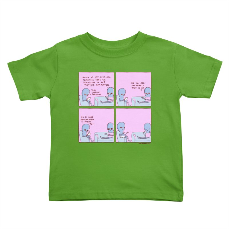 STRANGE PLANET: CONFLICT AVERSION Kids Toddler T-Shirt by Nathan W Pyle